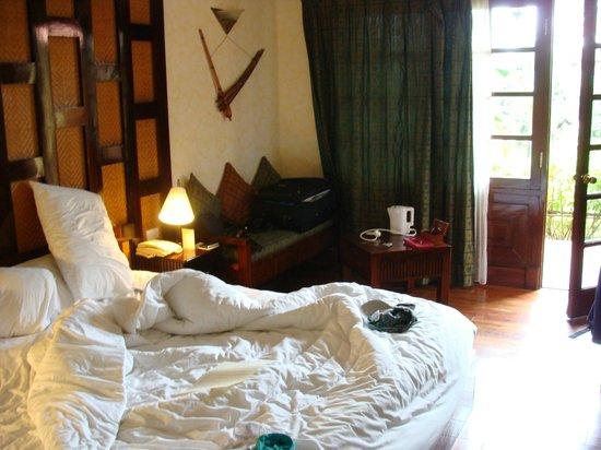Victoria Sapa Resort and Spa : chambre en rez de chaussée (avec terrasse)