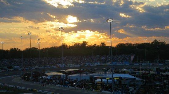 Richmond International Raceway: sunset in Richmond