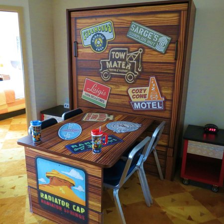 Disney's Art of Animation Resort: Sitting area/Murphy bed surprisingly comfy for a 16 year old