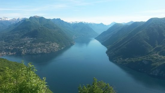 Monte San Salvatore: Vue sur Castagnola et le lac de Lugano