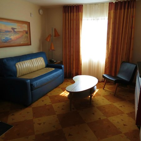 Disney's Art of Animation Resort: Sofa/sofa bed sitting/living area near kitchenette