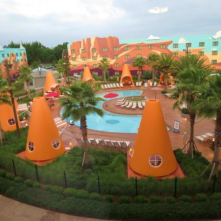 Disney's Art of Animation Resort: Pool view from room. Surprisingly quiet room facing pool