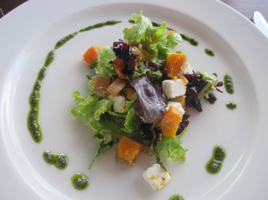 Grootbos Private Nature Reserve: butternut squash and goats cheese starter
