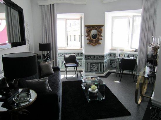 Teatro Bed & Breakfast : Suite sitting room