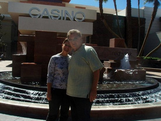 Red Rock Casino Resort & Spa: My husband and I in front of the Red Rock Casino