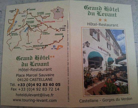 Hotel du Levant : Carte de l'hôtel