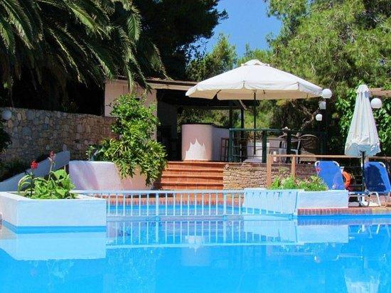 Paradise Hotel - Alonissos: Zwembadbar.