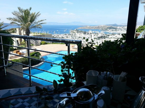 The Marmara, Bodrum : The view at breakfast, The Marmara Bodrum