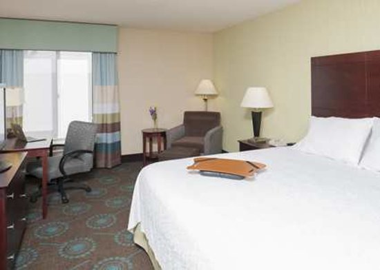 Hampton Inn & Suites South Bend: Our king bed study guest room offers more space than our standard guest room for even more comfo