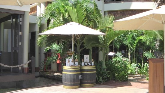 InterContinental Mauritius Resort Balaclava Fort : entrée restaurant Senso