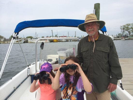 Chincoteague Cruises & Nature Tours : Captain Charlie and two of his young fans