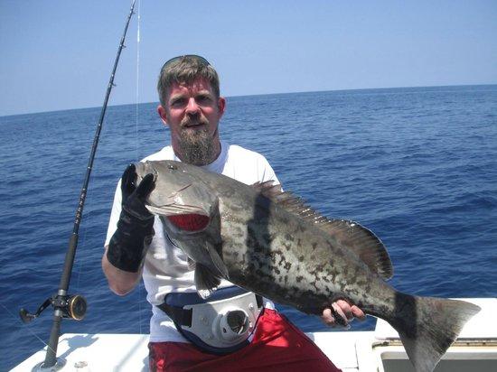 Arts Adventures: Gag Grouper caught in 280 foot of water.
