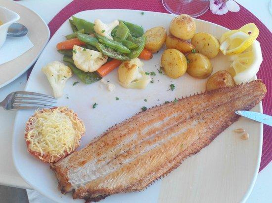 Algar Seco Parque: Hauptspeise Seezunge..ohne Gluten und lecker!