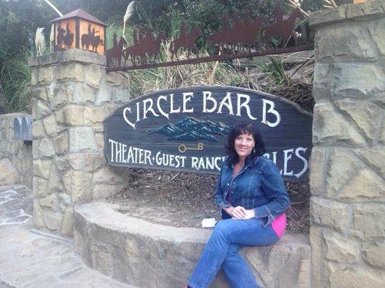 Circle Bar B Guest Ranch: The Entrance Sign
