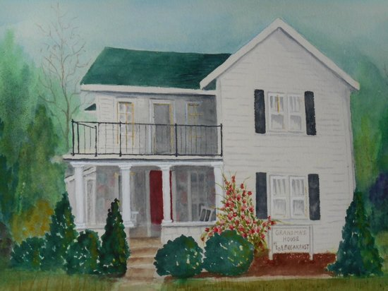 Grandma's House Bed & Breakfast: Painting of the house