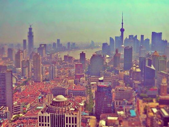 Radisson Blu Hotel Shanghai New World: vista dal bar