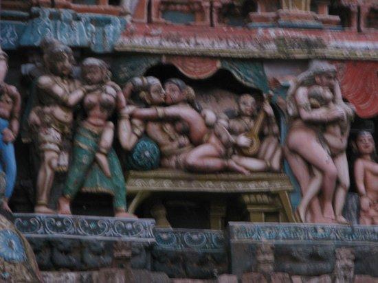 Uppiliappan Temple, Kumbakonam: scène érotique sur le temple