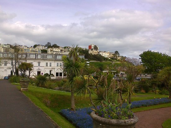 Premier Inn Torquay Hotel: View of the Hotel from the Torre Abbey gardens