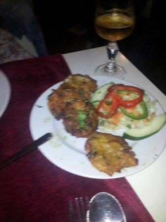 Swagatam Bar-Restaurant Hindu: Buñuelos de verduras. ..
