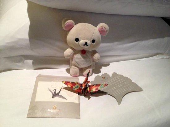The Okura Prestige Bangkok: Greeted with a beautiful origami crane