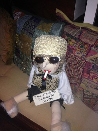 """Austin's Inn at Pearl Street: This is the """"welcome"""" doll at reception.   She was my favorite"""