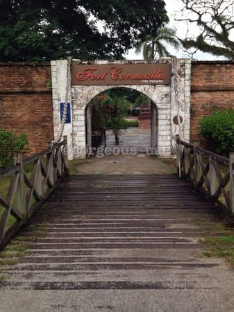 Fort Cornwallis : The entrance