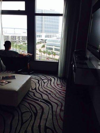 Hard Rock Hotel San Diego : livingroom