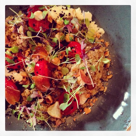 The Sands End: Quinoa and goats curd salad