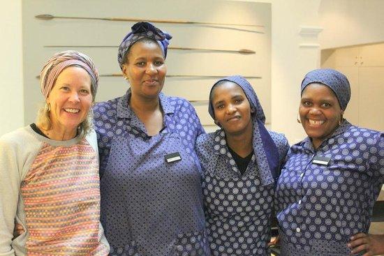 An African Villa : Beautiful staff plus one