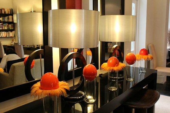 An African Villa : Beautiful ostrich eggs in public living area