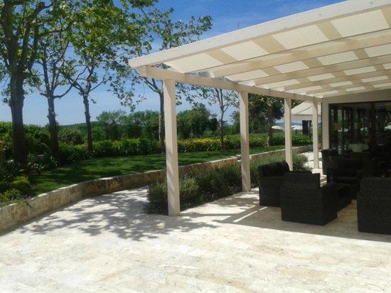 San Giovanni Terme Rapolano: patio hotel