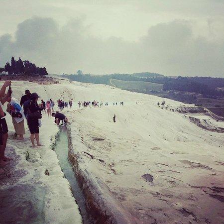 Pamukkale Thermal Pools: Май, пасмурно