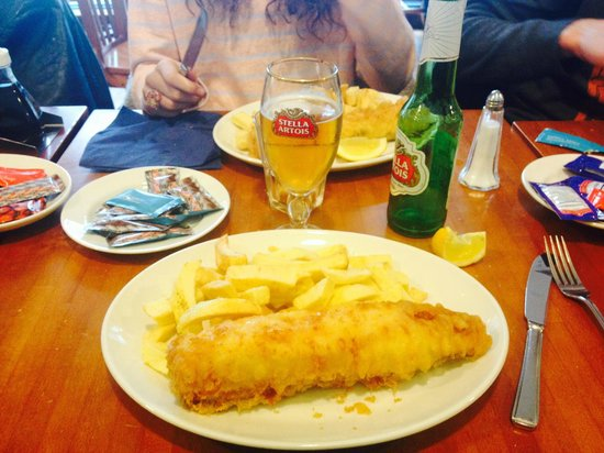 Papas Fish and Chips Restaurant: un fish & chips copieux