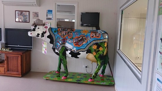 Food Trail Tours: Painted cow at the dairy farm