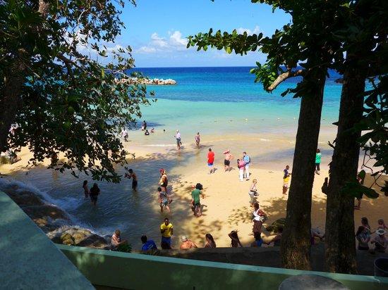 Jamaica Grande Beach: здесь водопад впадает в море