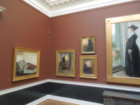 Hirschsprung Collection (Hirschsprungske Samling) : A gallery in the collection.