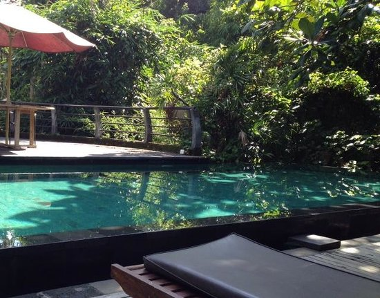 Matahari Cottage Bed and Breakfast: The pool/breakfast area is a great place to relax!