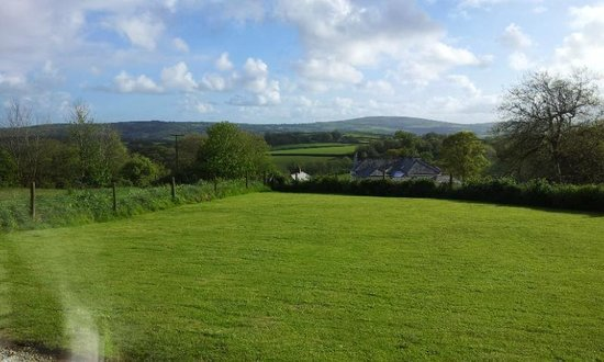 Wonwood Barton B and B: View of Cornwall across the Tamar valley from sitting room