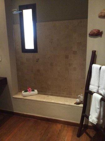 Zoetry Agua Punta Cana: Our shower/ bath tub.