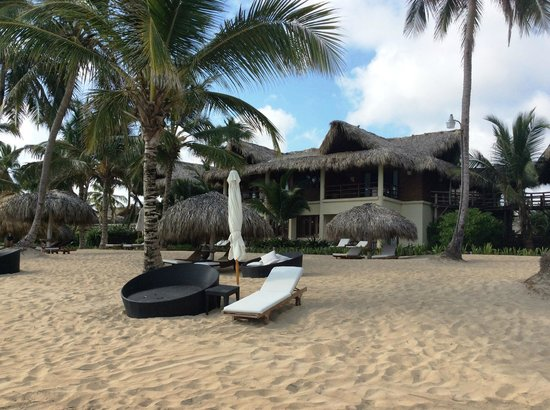 Zoetry Agua Punta Cana: View of hotel from beach.