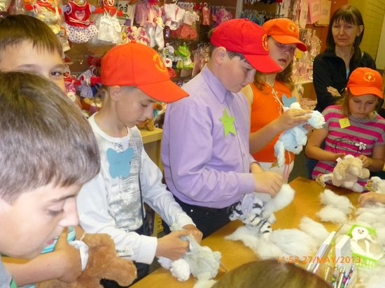 The Teddy Workshop: concentrating