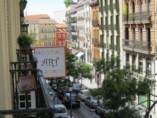 Hostal Art Madrid: View from our little balcony
