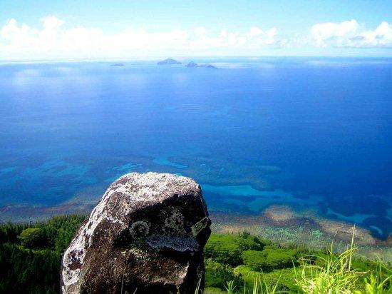 Vue depuis le Mont Duff sur les petites îles environnantes