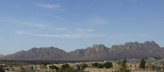 Organ Mountains to the east of Hotel Encanto de Las Cruces