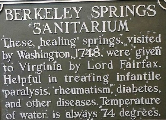 Berkeley Springs, Virginia Occidental: sign