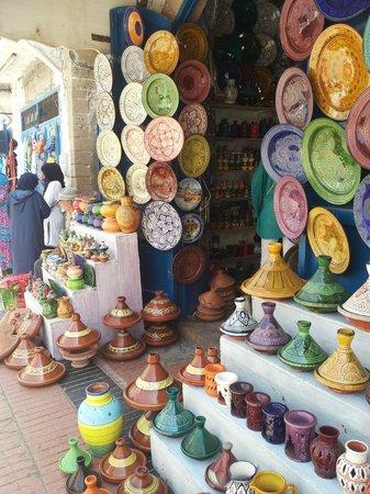 Médina d'Essaouira : тажины