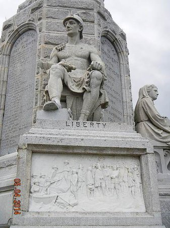 National Monument to the Forefathers: liberty