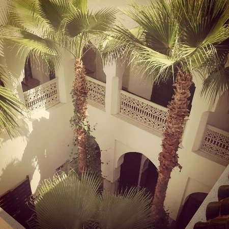 Riad Vert Marrakech: Loved the trees growing through the courtyard