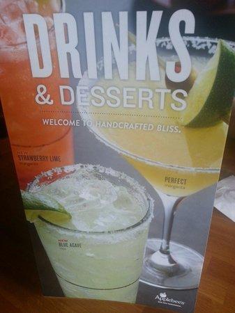 Applebee's drinks menu