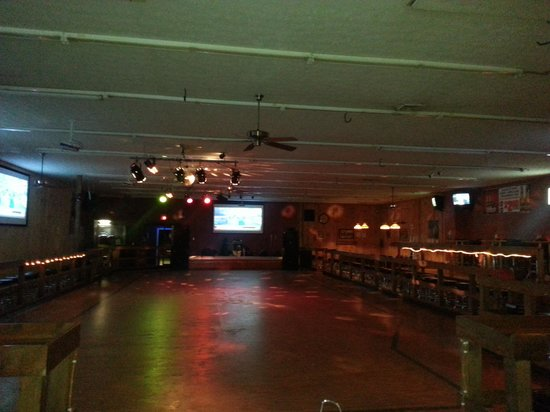 Kickin' Kountry Night Club: From backside of bar looking at dance floor & stage